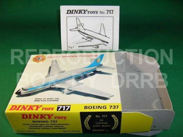 Dinky #717 Boeing 737 Lufthansa - Reproduction Box